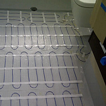 Bathroom In Screed Under Floor Heating